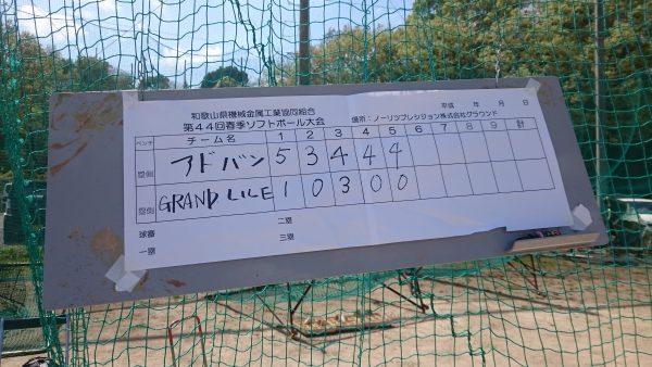 和歌山県機械金属組合第44回春季ソフトボール大会参加